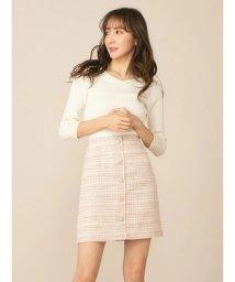 MIIA/ツイードビジュー台形スカート/501933050