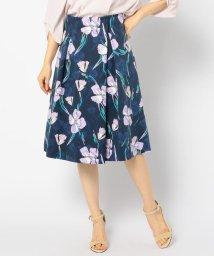NOLLEY'S/グログランフラワープリントスカート/501935205