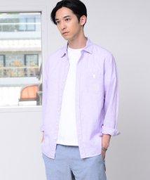coen/綿麻ハケメレギュラーカラーシャツ/501938353