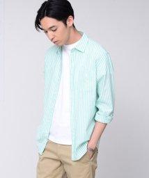 coen/【GO OUT6月号掲載】綿麻ストライプレギュラーカラーシャツ/501938355