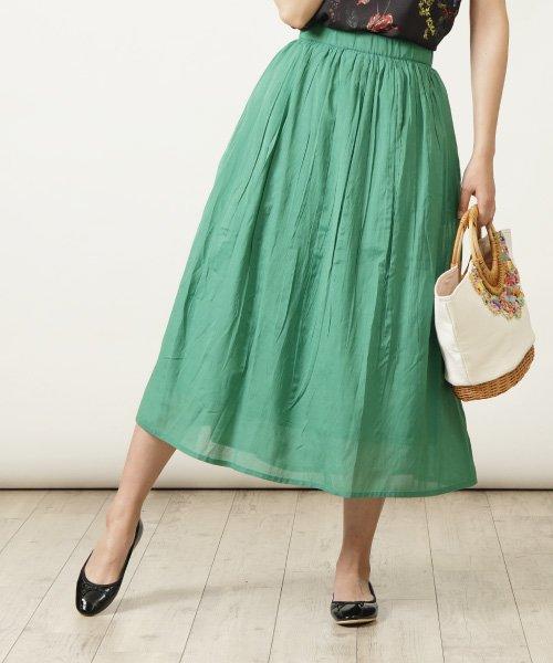 HAND WASHABLE ギャザーマキシスカート