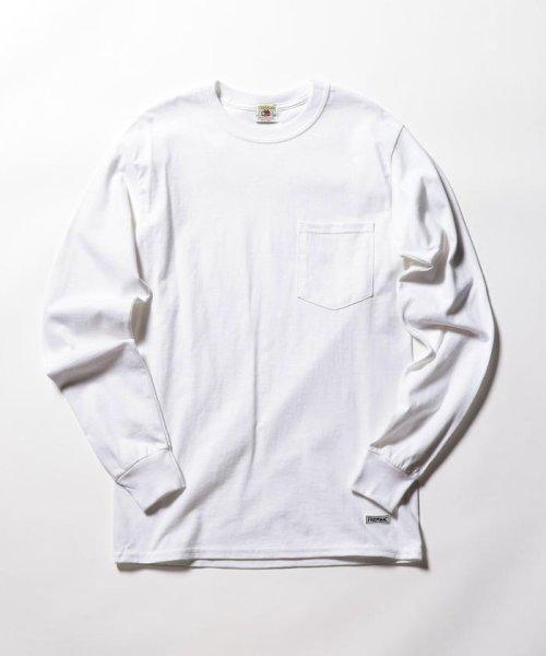 FREDYMAC(フレディマック)/ポケット付 USシルエットロンスリーブTシャツ/9-0609-2-50-005