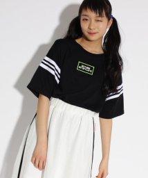 PINK-latte/ラインリブ切替 Tシャツ/501946325