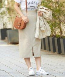 le.coeur blanc/ポケットツキリネンライクイージータイトスカート/501473756