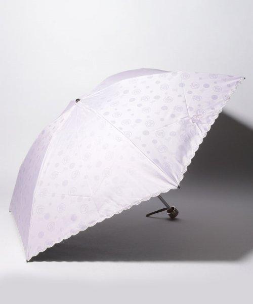 LANVIN Collection(umbrella)(ランバンコレクション(傘))/LANVIN COLLECTION 晴雨兼用傘 ミニ傘 【軽量】 ジャガード スカラ刺繍/220831001302