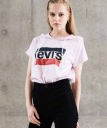 LEVI'S LADY/SHORT SLEEVE HOODIE TEE PALE PINK WITH W/501933544