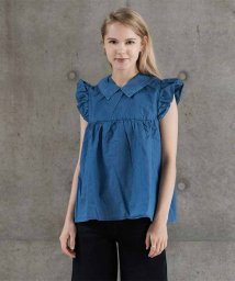 LEVI'S LADY/RUFFLE BLOUSE WITH BOW CHAMBRAY 5.10.1/501933556