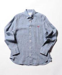 NOLLEY'S goodman/クジラ刺繍リネンボタンダウンシャツ/501935217
