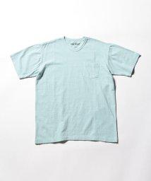 GLOSTER/吊り編み天竺【LOOP WHEEL】 VネックTシャツ/501935260