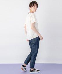 petit main LIEN/バックレースドロップTシャツ/501938637