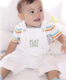 e-baby/デニムロゴ刺繍サロペット/501947245