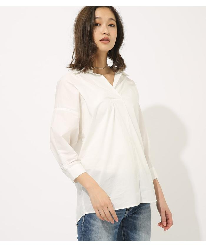 VOLUME SLEEVE SKIPPER BLOUSE