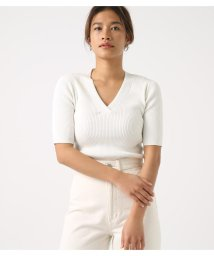 AZUL by moussy/RIB KNIT TOPS/501947497