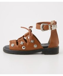 RODEO CROWNS WIDE BOWL/LACE UP スタッズ サンダル/501947522