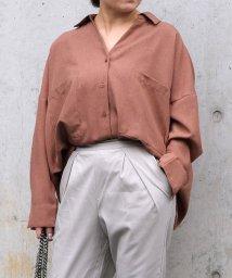 ANDJ/リネン風BIGポケットオーバーサイズシャツ/501948413