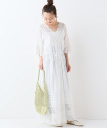 SLOBE IENA/SALA MALLIKA LACE GATHER ロングワンピース/501949056