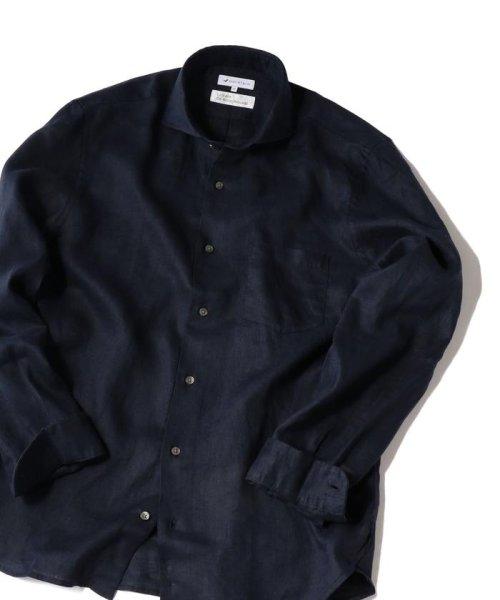 SHIPS JET BLUE(シップス ジェットブルー)/SHIPS JET BLUE: L.B.N. リネン セミワイドカラーシャツ/121110153
