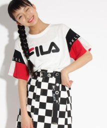 PINK-latte/【FILA】袖切替 Tシャツ/501949250