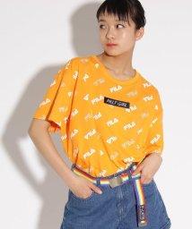 PINK-latte/【FILA】総柄 Tシャツ/501949251
