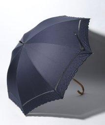 Afternoon Tea LIVING/スカラップドット刺繍晴雨兼用長傘 日傘/501926659