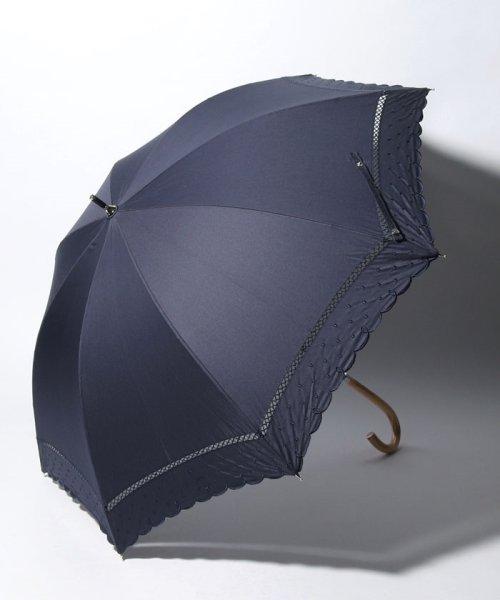 Afternoon Tea LIVING(アフタヌーンティー・リビング)/スカラップドット刺繍晴雨兼用長傘 日傘/FY1319201502