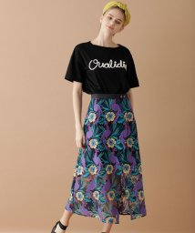 GRACE CONTINENTAL/【TV着用】ボタニカルパロットスカート/501950329