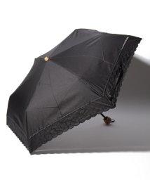 Afternoon Tea LIVING/スカラップドット刺繍晴雨兼用折りたたみ傘 日傘/501926660