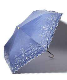 Afternoon Tea LIVING/シャンブレーフラワー晴雨兼用折りたたみ傘 日傘/501926662