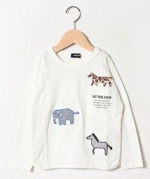 kladskap/動物刺しゅう胸ポケットTシャツ/501938607