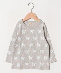 petit main/ブルちゃん総柄七分袖Tシャツ/501938610