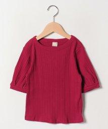 petit main/テレコパフスリーブ六分袖Tシャツ/501938627
