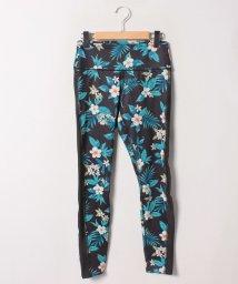 VacaSta Swimwear/【RUSTY】杢プルメリアプリントフルレギンス/501940104