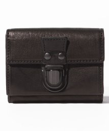PATRICK STEPHAN/Leather trifold wallet 'cartable'/501937048