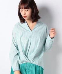 INTERPLANET/TCブライトブロードストライプ裾タックスキッパーシャツ/501942380