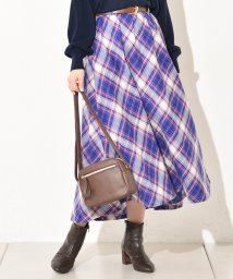 NICE CLAUP OUTLET/【natural couture】春色ビッグチェックスカート/501943255