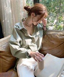 NANING9/NANING9(ナンニング)アースカラーゆるシャツ/501948796