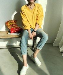 NANING9/NANING9(ナンニング)Vネック長袖Tシャツ/501948804