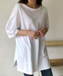 sonyunara/SONYUNARA(ソニョナラ)チラ見せ無地Tシャツ/501948806