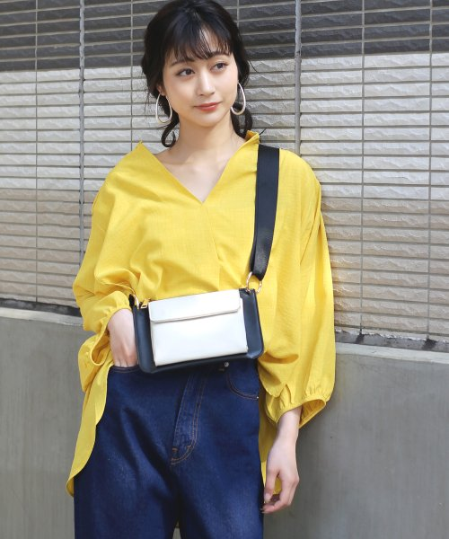 Bou Jeloud(ブージュルード)/◆ビッグシルエットが可愛い◆抜け衿ゆるカラービッグシャツ/691995