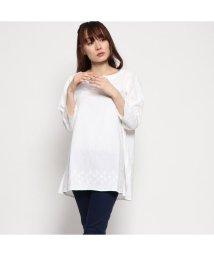 KANKAN/カンカン KANKAN コットンフラックス刺繍チュニック (ホワイト)/501953066
