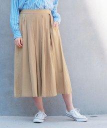 NICOLE white/タックロングスカート/501559962