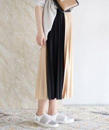 Bou Jeloud/◆クラシックな雰囲気が漂う色使い◆サイドカラー配色プリーツスカート/501943078