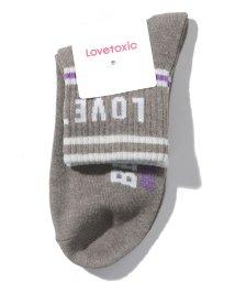 Lovetoxic/ラインでかロゴクルーソックス/501945334