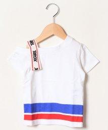 X-girl Stages/肩ロゴテープデザインTシャツ/501945342