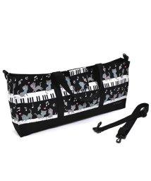 COLORFUL CANDY STYLE/【通園・通学】鍵盤ハーモニカケース スタンダード ピアノの上で踊る黒猫ワルツ(ブラック)/501948894