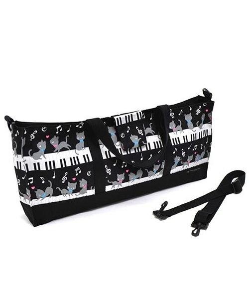 カラフルキャンディスタイル 鍵盤ハーモニカケース スタンダード ピアノの上で踊る黒猫ワルツ(ブラック) キッズ ブラック f 【COLORFUL CANDY STYLE】