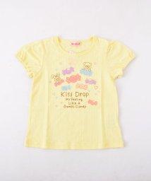 KISS DROP/ストライプジャガード天竺クマプリントTシャツ/501953515