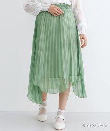 merlot/【plus】ラメプリーツアシメヘムスカート/501954526