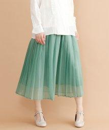merlot/【plus】シフォンプリーツスカート/501954700