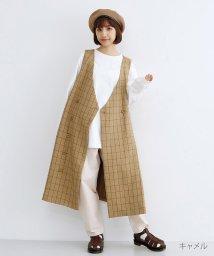 merlot/ウインドウペンチェックジャンパースカート/501954749